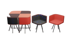 Modern Glass Table marketing shot